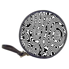 Psychedelic Zebra Black White Classic 20 Cd Wallets by Mariart