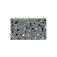 Psychedelic Zebra Black White Cosmetic Bag (xs) by Mariart