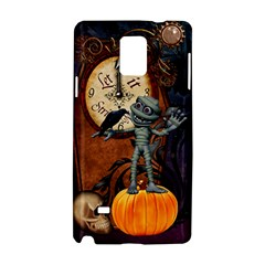 Funny Mummy With Skulls, Crow And Pumpkin Samsung Galaxy Note 4 Hardshell Case by FantasyWorld7