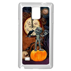 Funny Mummy With Skulls, Crow And Pumpkin Samsung Galaxy Note 4 Case (white) by FantasyWorld7