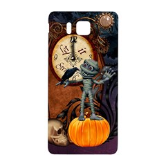 Funny Mummy With Skulls, Crow And Pumpkin Samsung Galaxy Alpha Hardshell Back Case by FantasyWorld7