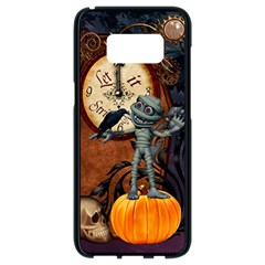 Funny Mummy With Skulls, Crow And Pumpkin Samsung Galaxy S8 Black Seamless Case by FantasyWorld7
