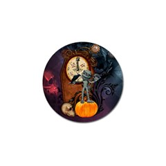 Funny Mummy With Skulls, Crow And Pumpkin Golf Ball Marker (4 Pack) by FantasyWorld7