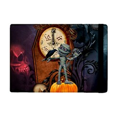 Funny Mummy With Skulls, Crow And Pumpkin Ipad Mini 2 Flip Cases by FantasyWorld7