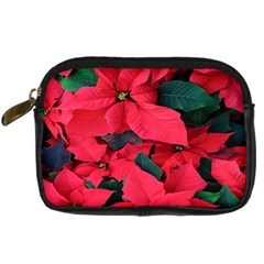 Red Poinsettia Flower Digital Camera Cases by Mariart