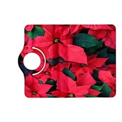 Red Poinsettia Flower Kindle Fire Hd (2013) Flip 360 Case by Mariart