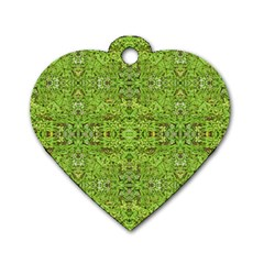 Digital Nature Collage Pattern Dog Tag Heart (one Side) by dflcprints