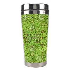 Digital Nature Collage Pattern Stainless Steel Travel Tumblers by dflcprints