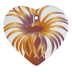 Sea Anemone Heart Ornament (two Sides) by Mariart