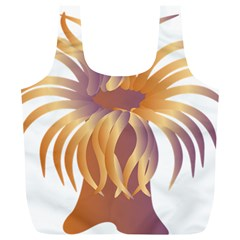 Sea Anemone Full Print Recycle Bags (l)  by Mariart