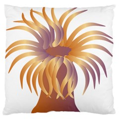 Sea Anemone Large Flano Cushion Case (two Sides) by Mariart