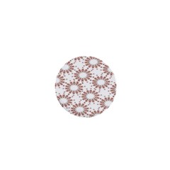 Pattern Flower Floral Star Circle Love Valentine Heart Pink Red Folk 1  Mini Buttons by Mariart