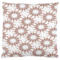 Pattern Flower Floral Star Circle Love Valentine Heart Pink Red Folk Large Cushion Case (one Side) by Mariart