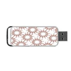 Pattern Flower Floral Star Circle Love Valentine Heart Pink Red Folk Portable Usb Flash (one Side) by Mariart