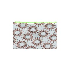 Pattern Flower Floral Star Circle Love Valentine Heart Pink Red Folk Cosmetic Bag (xs) by Mariart