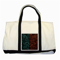 Square Pheonix Blue Orange Red Two Tone Tote Bag by Mariart