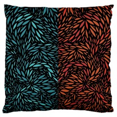 Square Pheonix Blue Orange Red Large Flano Cushion Case (two Sides) by Mariart