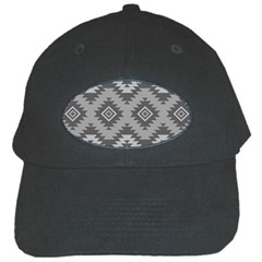 Triangle Wave Chevron Grey Sign Star Black Cap by Mariart