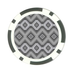 Triangle Wave Chevron Grey Sign Star Poker Chip Card Guard by Mariart