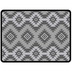 Triangle Wave Chevron Grey Sign Star Fleece Blanket (large)  by Mariart