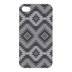 Triangle Wave Chevron Grey Sign Star Apple Iphone 4/4s Hardshell Case by Mariart