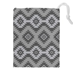 Triangle Wave Chevron Grey Sign Star Drawstring Pouches (xxl) by Mariart