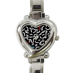 Toucan White Bluered Heart Italian Charm Watch by Mariart