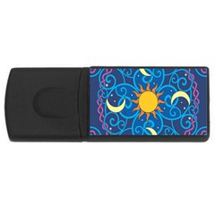 Sun Moon Star Space Vector Clipart Rectangular Usb Flash Drive by Mariart