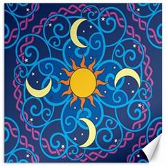 Sun Moon Star Space Vector Clipart Canvas 16  X 16   by Mariart
