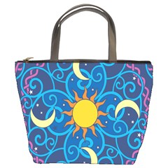 Sun Moon Star Space Vector Clipart Bucket Bags by Mariart