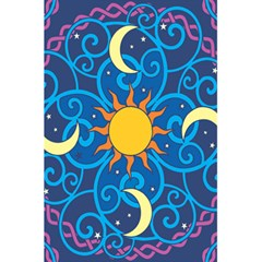 Sun Moon Star Space Vector Clipart 5 5  X 8 5  Notebooks by Mariart