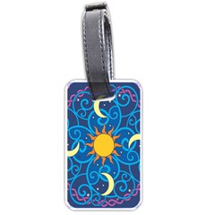 Sun Moon Star Space Vector Clipart Luggage Tags (two Sides) by Mariart