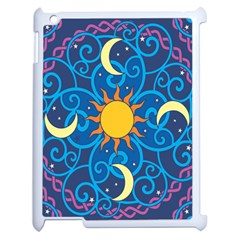 Sun Moon Star Space Vector Clipart Apple Ipad 2 Case (white) by Mariart