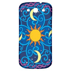Sun Moon Star Space Vector Clipart Samsung Galaxy S3 S Iii Classic Hardshell Back Case by Mariart