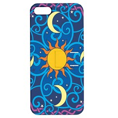 Sun Moon Star Space Vector Clipart Apple Iphone 5 Hardshell Case With Stand by Mariart