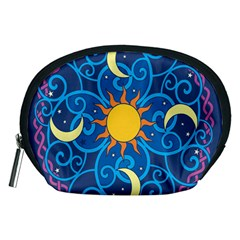 Sun Moon Star Space Vector Clipart Accessory Pouches (medium)  by Mariart