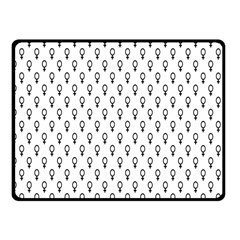 Woman Sign Circle Black Fleece Blanket (small) by Mariart
