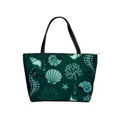 Vector Seamless Pattern With Sea Fauna Seaworld Shoulder Handbags by Mariart