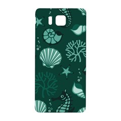 Vector Seamless Pattern With Sea Fauna Seaworld Samsung Galaxy Alpha Hardshell Back Case by Mariart