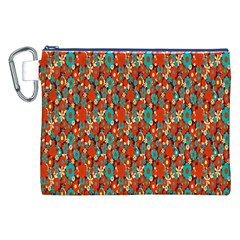 Surface Patterns Bright Flower Floral Sunflower Canvas Cosmetic Bag (xxl) by Mariart