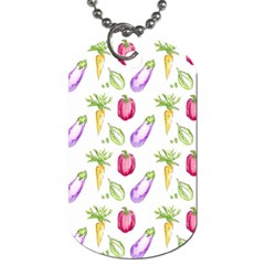 Vegetable Pattern Carrot Dog Tag (two Sides) by Mariart