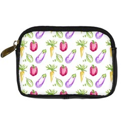 Vegetable Pattern Carrot Digital Camera Cases by Mariart