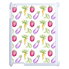 Vegetable Pattern Carrot Apple Ipad 2 Case (white) by Mariart