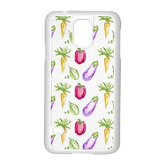 Vegetable Pattern Carrot Samsung Galaxy S5 Case (white) by Mariart