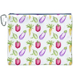 Vegetable Pattern Carrot Canvas Cosmetic Bag (xxxl) by Mariart