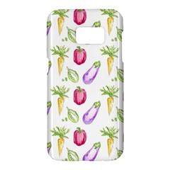 Vegetable Pattern Carrot Samsung Galaxy S7 Hardshell Case  by Mariart