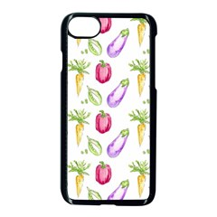 Vegetable Pattern Carrot Apple Iphone 7 Seamless Case (black) by Mariart