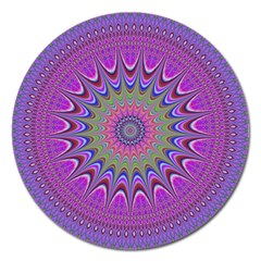 Art Mandala Design Ornament Flower Magnet 5  (round) by BangZart