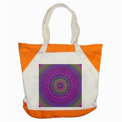 Art Mandala Design Ornament Flower Accent Tote Bag by BangZart