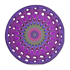 Art Mandala Design Ornament Flower Round Filigree Ornament (two Sides) by BangZart